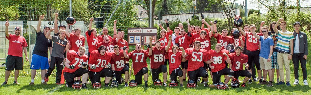 So sehen Sieger aus: erster Sieg einer Crusaders A-Jugendmannschaft
